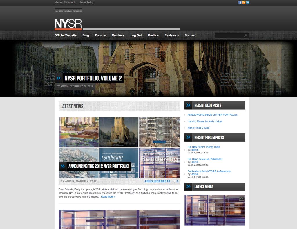 NYSR blog by SimpleTwig Web, 2012.