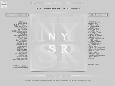 2001 website design for NYSR.