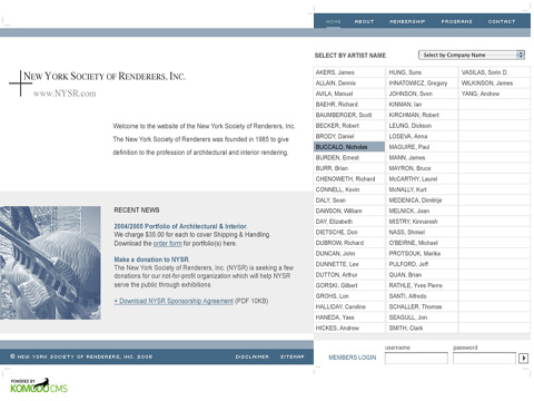 Updated NYSR website 2004 is the foundation for todays NYSR website.