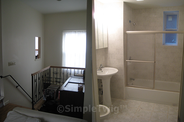Carriage House duplex stair, and handicap bathroom (note: owner selected materials)