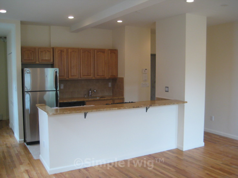 1st floor apartment has a 'flipped' layout similar to the 2nd floor apt.