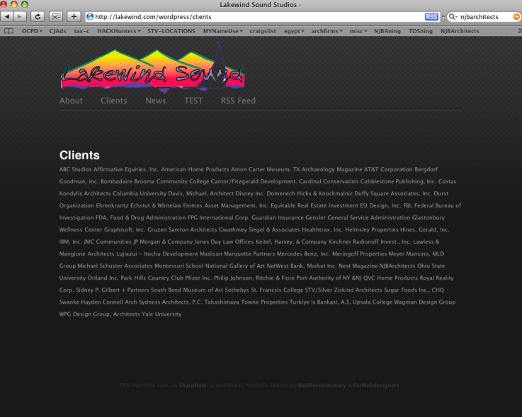 Our client list, verbatim, on someone else's website. The nerve!