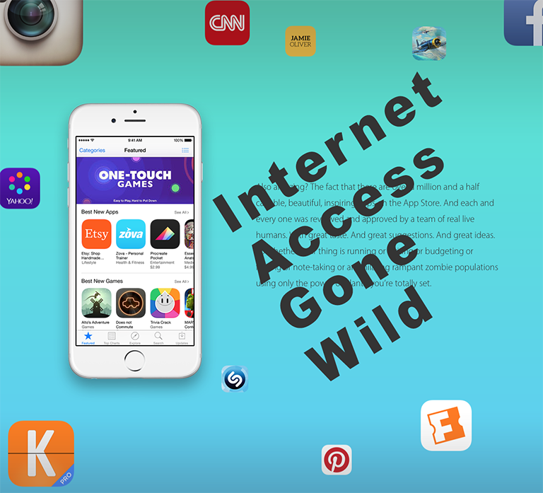 Access to the internet...