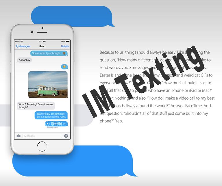 Blue Text Bubbles