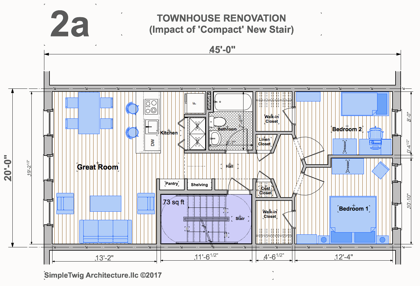Analysis Of Residential Stair Configurations For Townhouses Architect S Blog