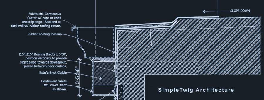 Proper Townhouse Gutter Detail Architect S Blog